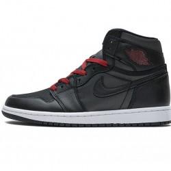 "Air Jordan 1 Retro High OG ""Black Satin"" Gym Red Black Red 555088-060"