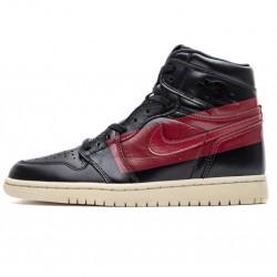 "Air Jordan 1 Retro High OG ""Defiant Couture"" Black Red BQ6682-006"