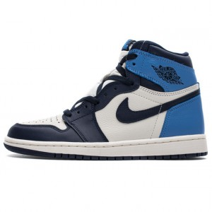 "Air Jordan 1 Retro High OG ""Obsidian"" University Blue White 555088-140"