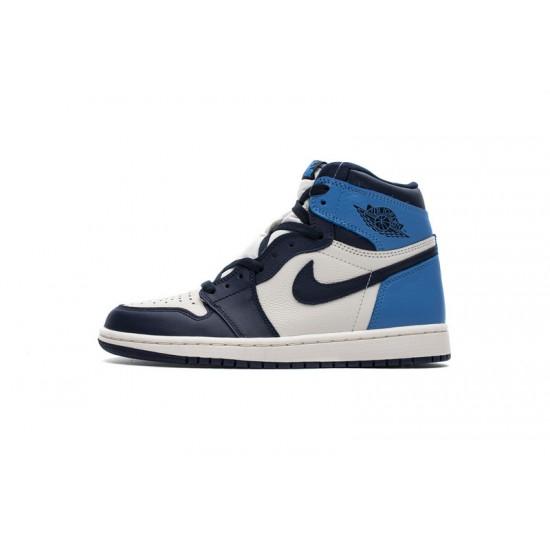 Air Jordan 1 Retro High OG Obsidian University Blue White 555088-140