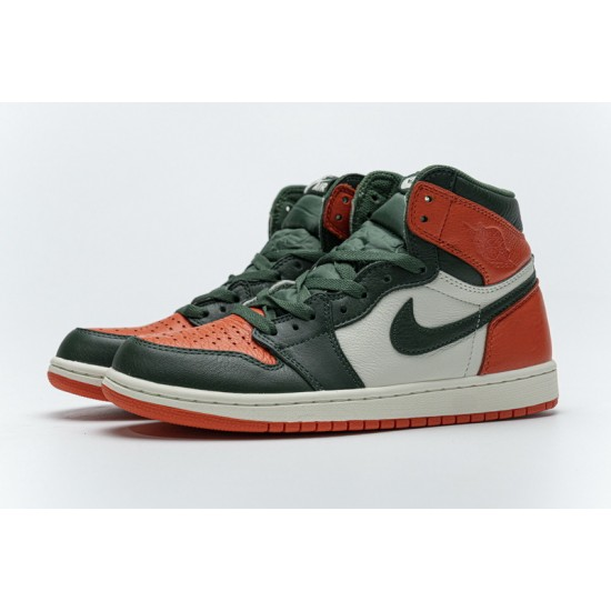 "Hot SoleFly x Air Jordan 1 High OG ""Art Basel"" Green Orange White AV3905-138 40.5-47 Shoes"
