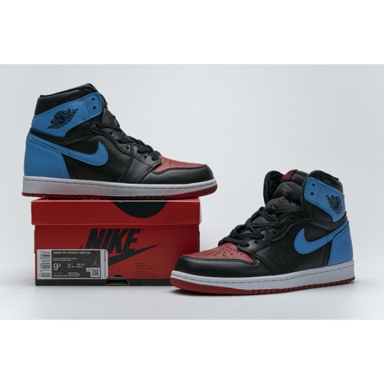 """New Air Jordan 1 High """"UNC To Chicago"""" Blue Black Red CD0461-046 36-47 Shoes"""