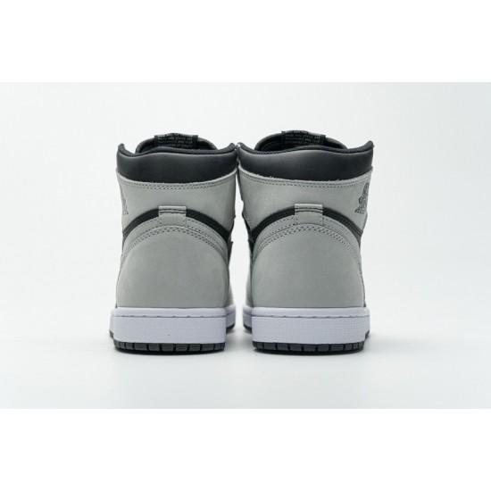 "Discount Air Jordan 1 High ""Shadow 2.0"" Black Grey 555088-035 36-46 Shoes"