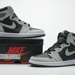 "Air Jordan 1 High ""Shadow 2.0"" Black Grey 555088-035 36-46"