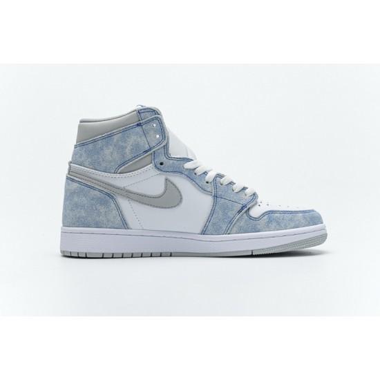 """Best Air Jordan 1 High """"Hyper Royal"""" Blue White Grey 555088-402 36-45 Shoes"""