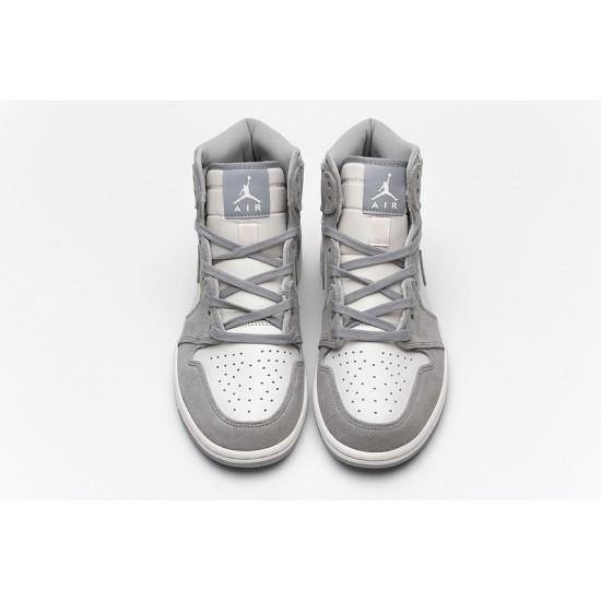 Air Jordan 1 Pale Ivory Gray Pink AH7389-101