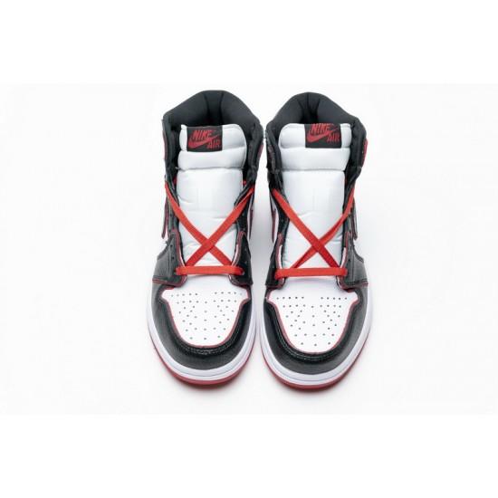 Air Jordan 1 Retro High OG Meant To Fly Black Red 555088-062