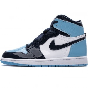 "Air Jordan 1 Retro High OG ""UNC"" Patent Blue Black CD0461-401"