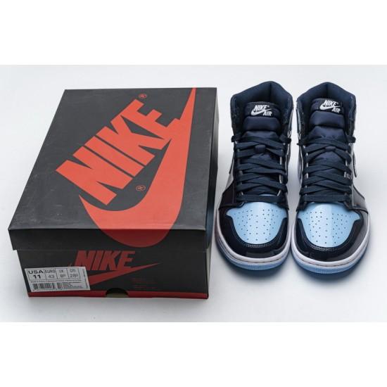 Air Jordan 1 Retro High OG UNC Patent Blue Black CD0461-401