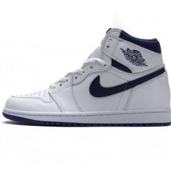 "Air Jordan 1 Retro High OG ""Blue Moon"" White Purple 555088-115"