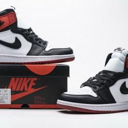 "Air Jordan 1 Retro High ""Satin Black Toe"" Black Red CD0461-016"