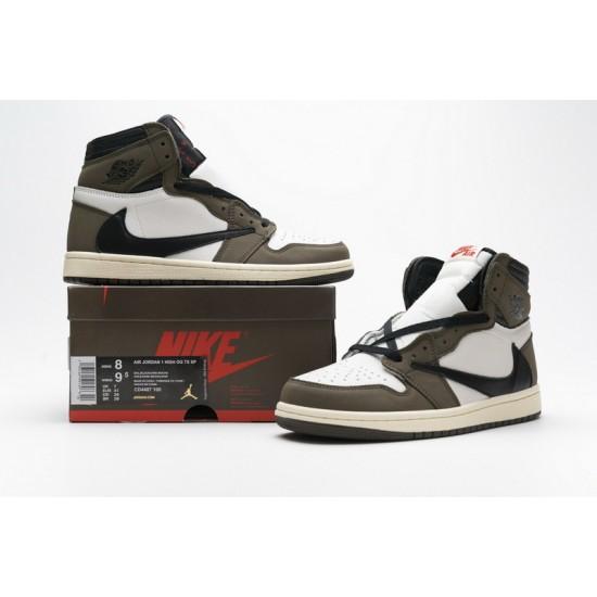 Travis Scott x Air Jordan 1 High OG TS SP Mocha Brown White CD4487-100