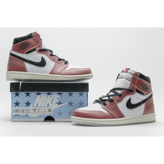 "Cheap Trophy Room x Air Jordan 1 High OG ""Chicago"" Red White Black DA2728-100 36-46 Shoes"