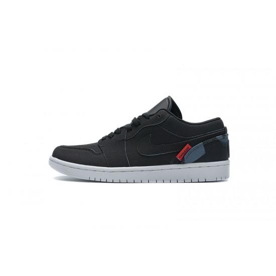 "Discount Air Jordan 1 Low BG ""PSG"" Black Blue Red CN1077-001 40-45 Shoes"