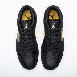"Air Jordan 1 Low ""Black University Gold"" Black Gold 553558-071"