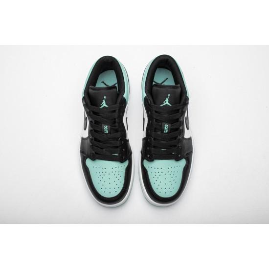 Air Jordan 1 Low Emerald Toe Blue Black 553558-117
