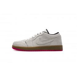 "Air Jordan 1 Low ""Hyper Pink"" Grey White 553558-119"