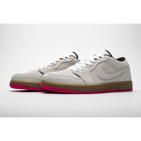 Air Jordan 1 Low Hyper Pink Grey White 553558-119