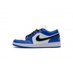 "Air Jordan 1 Low ""Hyper Royal"" Blue White 553558-401"
