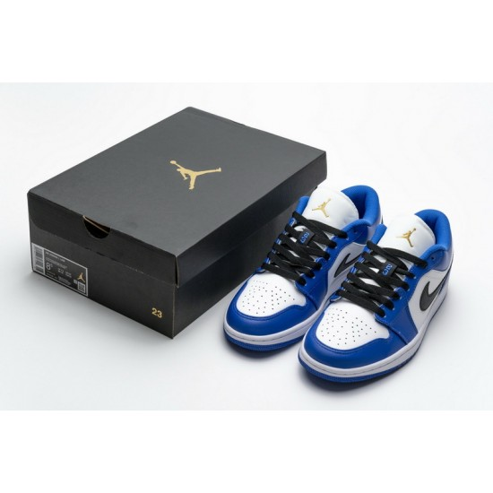 Air Jordan 1 Low Hyper Royal Blue White 553558-401