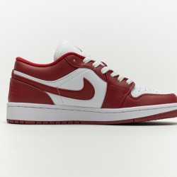 "Air Jordan 1 Low ""Sport Red"" White Red 553558-611"