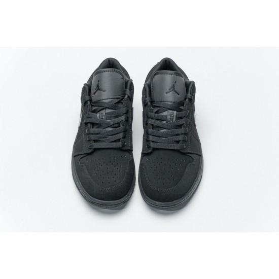 "Hot Air Jordan 1 Low ""Triple Black"" All Black 553558-056 40-45 Shoes"