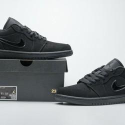 """Air Jordan 1 Low """"Triple Black"""" All Black 553558-056 40-45"""