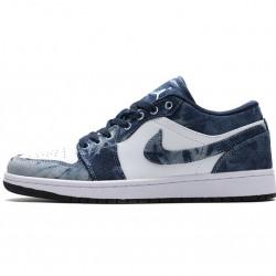 "Air Jordan 1 Low ""Washed Denim"" Blue White CZ8455-100"
