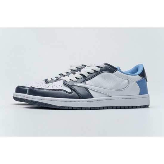 Hot Travis Scott x Fragment Design x Air Jordan 1 Low Blue White CQ4278-001 40-46 Shoes