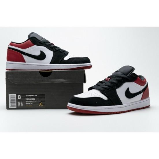 Air Jordan 1 Low Black Toe Black White Red 553558-116