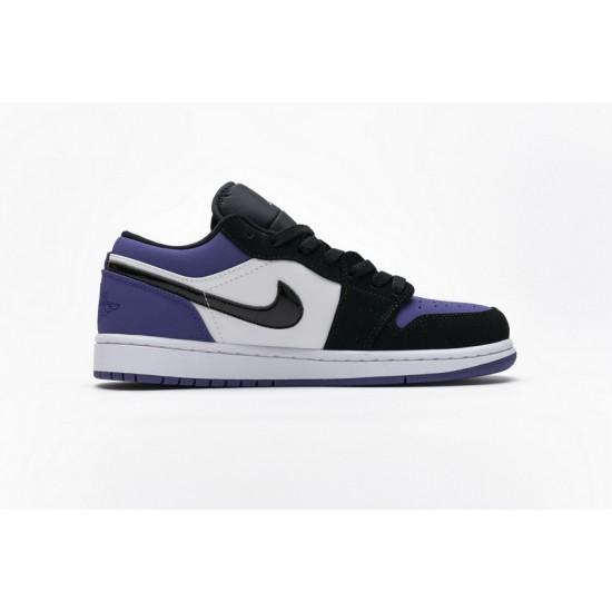 Air Jordan 1 Low Court Purple Black Purple 553558-125