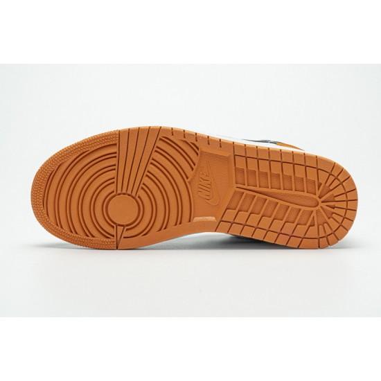 "2020 Air Jordan 1 Low GS ""Shattered Backboard"" Black White Orange 553560-128 36-45 Shoes"