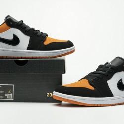 "Air Jordan 1 Low GS ""Shattered Backboard"" Black White Orange 553560-128 36-45"