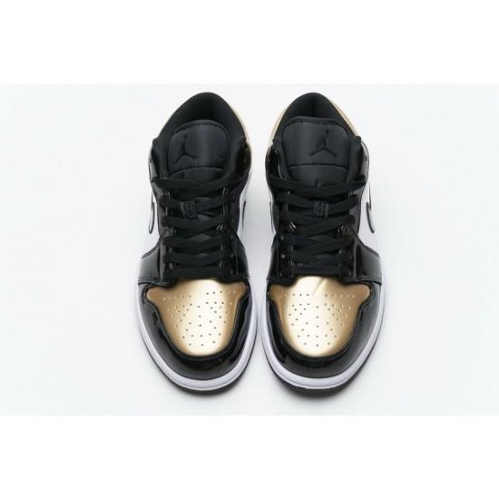 Air Jordan 1 Low Gold Toe Black White Gold CQ9447-700