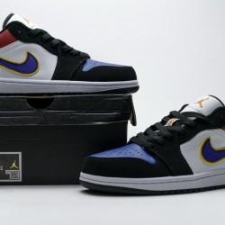 "Air Jordan 1 Low ""Lakers Top 3"" White Blue Purple CJ9216-051"