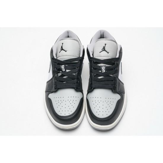 Air Jordan 1 Low Light Smoke Grey Black Grey 553558-039