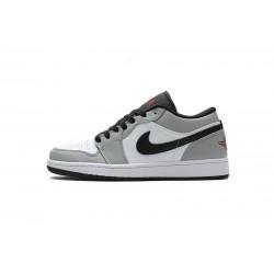 """Air Jordan 1 Low """"Light Smoke Grey"""" Grey White 553558-030"""