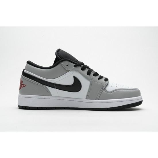 Air Jordan 1 Low Light Smoke Grey Grey White 553558-030