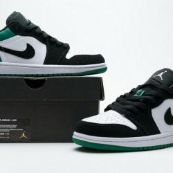 """Air Jordan 1 Low """"Mystic Green"""" Black White Green 553558-113"""