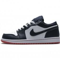 "Air Jordan 1 Low ""Obsidian Ember Glow"" Blue White 553558-481"