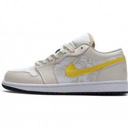 "Air Jordan 1 Low ""Palm Tree"" White Yellow CK3022-107"