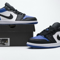 "Air Jordan 1 Low ""Royal Toe"" Blue Black CQ9446-400"
