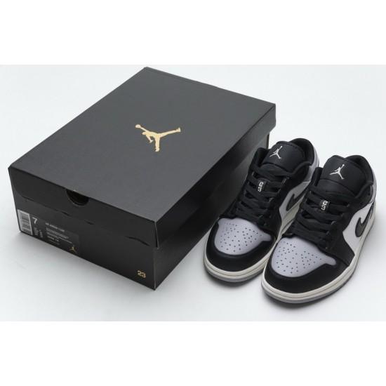 Air Jordan 1 Low Atmosphere Shadow Black Gray 553558-110
