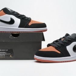 "Air Jordan 1 Low ""Shattered Backboard"" Black Orange 553558-128"