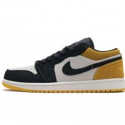 """Air Jordan 1 Low """"University Gold"""" Black Yellow 553558-127"""