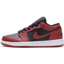 "Air Jordan 1 Low ""Varsity Red"" Black Red 553558-606"