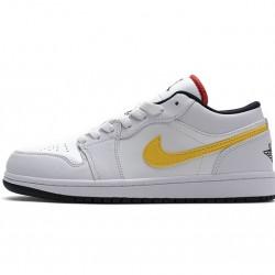 """Air Jordan 1 Low """"White Multi-Color"""" White Yellow Blue CW7009-100"""