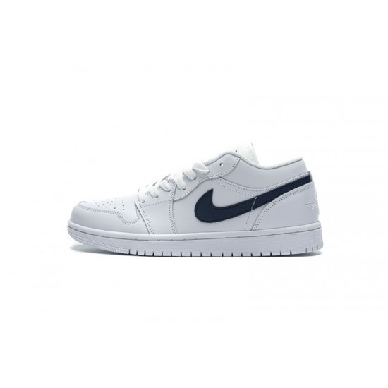"""Cheap Air Jordan 1 Low """"White Obsidian"""" White Blue 553558-114 36-45 Shoes"""