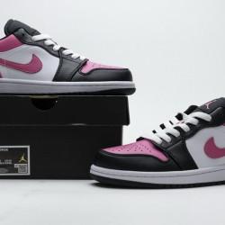 """Air Jordan 1 Low GS """"Pinksicle"""" Black White Pink 554723-106"""