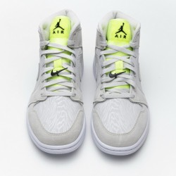 "Air Jordan 1 ""Grey Ghost Green"" White Green CV3018-001"